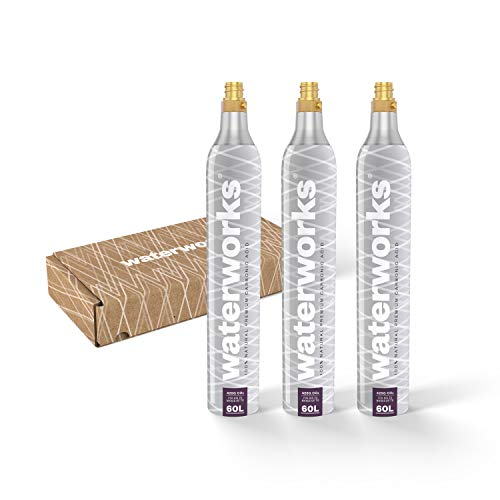 waterworks 3 x Silver CO2-Zylinder I Geeignet für SodaStream u.v.a Wassersprudler I Für bis zu 60 L pro Füllung I Kostenfreier Rückversand bei...