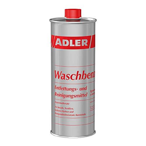 ADLER Waschbenzin - 1 L - Reinigungsbenzin, Reinigungsmittel und Fleckenentferner, zur gezielten Reinigung von fettigen und öligen Verschmutzungen