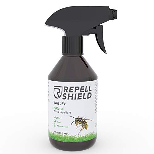 RepellShield - 100% Veganes Wespenspray als Wespenabwehr auch für Hornissen, Die Alternative zum Wespenschaum als Wespenspray Sofortwirkung, Antiwespen Mittel...