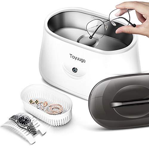 Toyuugo Ultraschallreiniger 650ml Ultraschallreinigungsgerät Ultraschallbad 42000Hz Ultraschallgerät für Brillen Schmuck Uhren Halsketten Rasierer...