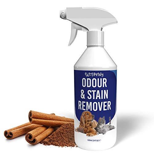 PETSLY Geruchsneutralisierer für Hunde & Katzen Flecken, Enzymreiniger Katzenurin Geruchsentferner gegen unangenehme Gerüche, Geruchsentferner Katze,...