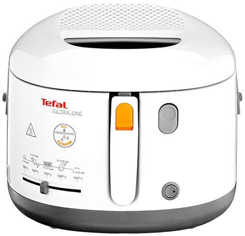Tefal FF1631 Fritteuse Filtra One | 1.900 W | Kapazität 1,2 Kg | Clean-Oil-System | Auffangsieb für Frittierreste | Wärmeisoliert | Spülmaschinenfest |...