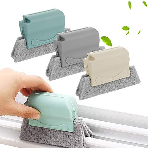XCOZU Fensterrillen Reinigungsbürste, 3 Stück Reinigungsbürsten für Fenster Tür Reinigung Aller Ecken und Lücken, Fensterrahmen Reinigungsbürste...