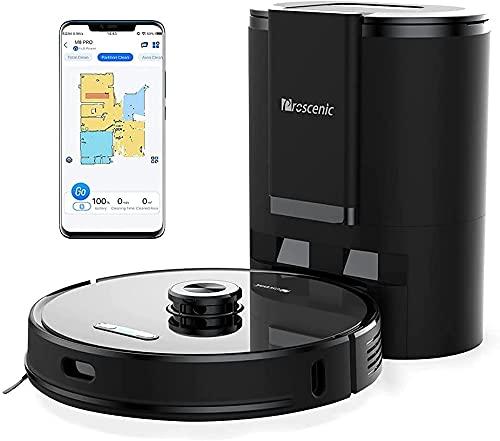 Proscenic M8 PRO WLAN Saugroboter, Staubsauger Roboter mit automatischer Absaugstation & aktiver Wischfunktion, Laser Navigation, Google Home, Alexa- &...