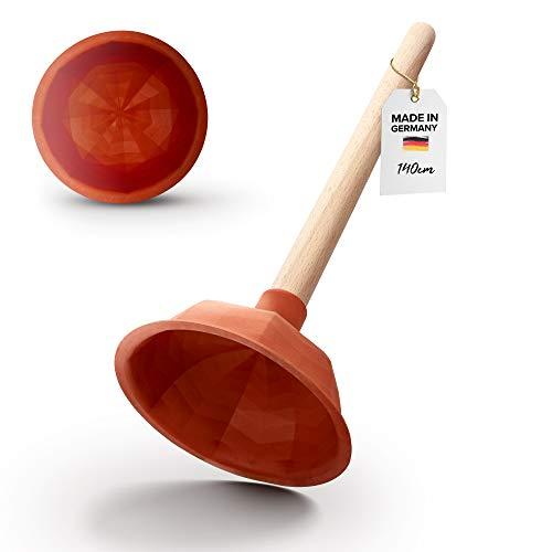 Abrush Pömpel für Toilette, Dusche & Küche   140mm Abflussreiniger (Made in Germany)   Universal-Saugglocke für jeden Abfluss   Ausgussreiniger Pümpel aus...