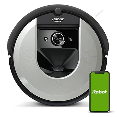 iRobot Roomba i7 (i7156) WLAN-fähiger Saugroboter, Zwei Gummibürsten, Ideal bei Haustieren, Lernt, kartiert dein Zuhause, Individuelle Anpassung,...