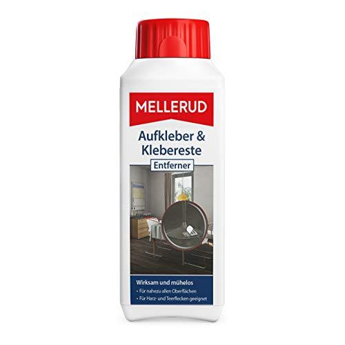 Mellerud Aufkleber & Klebereste Entferner – Wirkungsvolles Reinigungsmittel zum Entfernen von Aufklebern und Etiketten auf Allen unempfindlichen Oberflächen...