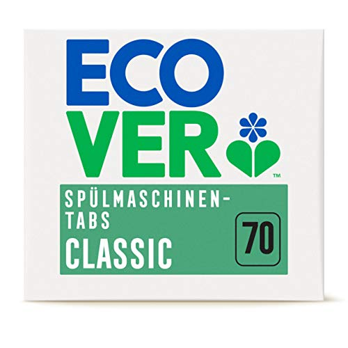 Ecover Classic Spülmaschinen-Tabs Zitrone & Limette (70 Stück/1,4 kg), Spülmittel mit pflanzenbasierten Inhaltsstoffen, Ecover Spülmaschinentabs für eine...