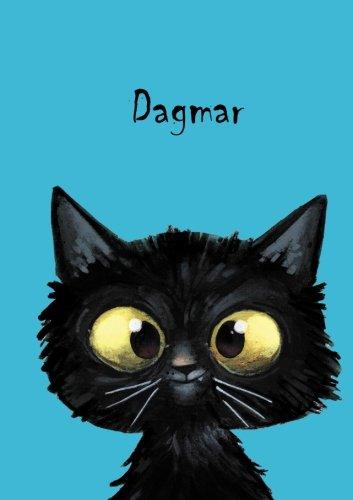 Dagmar - Katzen-Malbuch / Notizbuch / Tagebuch: DIN A5 - blanko