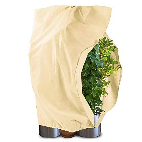 Qfun Winterschutz für Pflanzen, Frostschutz Pflanzen Winter (1.2m*1.8m) mit Kokosmatte 30cm 100% Biologisch Winterschutz für Kübelpflanzen Olivenbaum