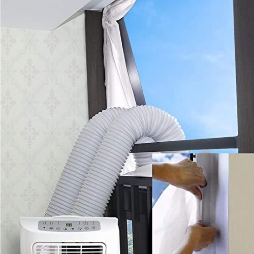 Haushaltsgeräte Fensterabdichtung für Mobile Klimageräte/Klimaanlagen/Wäschetrockner/Ablufttrockner/Hot Air Stop zum Anbringen an Fenster, Dachfenster,...