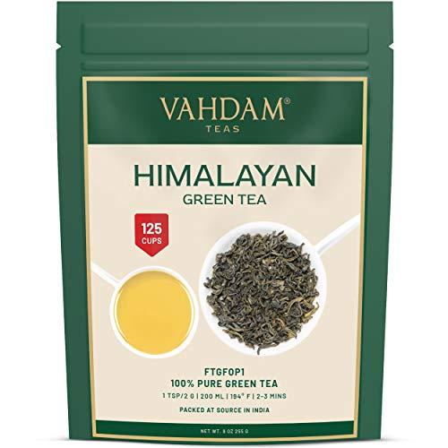 Grüner Tee Blätter aus dem Himalaya (100+ Tassen), 100% Natürlicher Loser Detox Blättertee, Gewichtsverlust, Abnehm-Tee, Kraftvolle Natürliche...