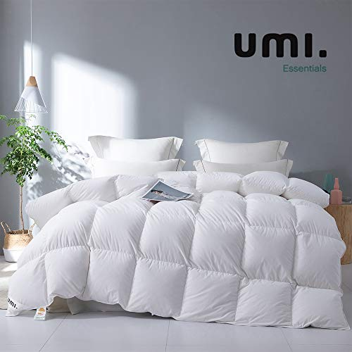 UMI. by Amazon Daunendecke Federdecke Hotelqualität Winter bettdecke Luxuriöse (Weiß-13.5tog, Single-135x200cm)