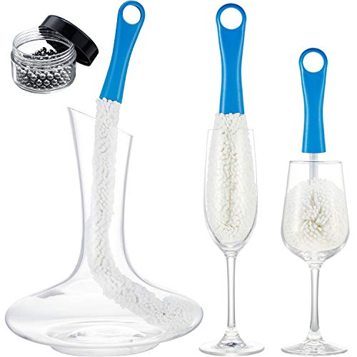 3 Stücke Weinkaraffe Reinigungsbürste Flexibler Flaschenreiniger Karaffe Reinigungskugeln Multifunktion Haushalt Reinigungswerkzeuge für...