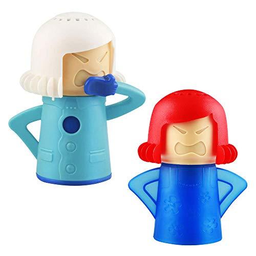 TANCUDER 2 Stücke Angry Mama Mikrowelle Dampfreinige, wütend Mama Mikrowelle schnelle Aktion Dampfreiniger, Gesunde Küche Cleanser Werkzeug mit Essig und...