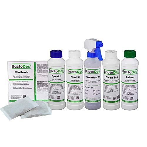 BactoDes Geruchsneutralisierer Geruchskiller- Kennenlern-Set - Verschiedene Geruchsvernichter Konzentrate zum Verdünnen - Lernen sie ihren persönlichen...
