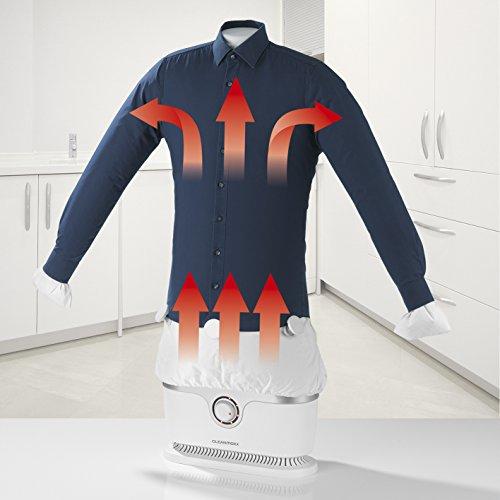 CLEANmaxx Automatischer Hemdenbügler | Trocknet und glättet Hemden & Blusen und ersetzt Bügeleisen oder Dampfbügelstation | Automatische Bügelstation auch...