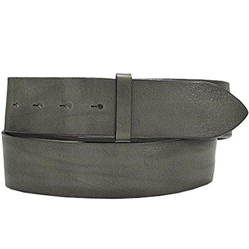 Post & Co Gurtelband graues Sattelleder mit Drueckern G271021D 95 cm