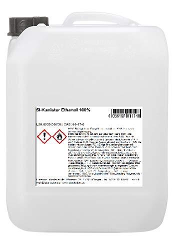 naturverlesen 5l Bioethanol 100% geprüfte Laborqualität - Made IN Germany (Ethanol für Desinfektion geeignet)
