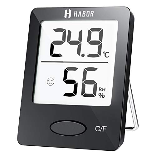 Habor Thermo-Hygrometer, Luftfeuchtigkeitsmessgerät Innen Digitales Thermometer Hygrometer Innen Hydrometer Feuchtigkeit Digital mit Hohen Genauigkeit,...