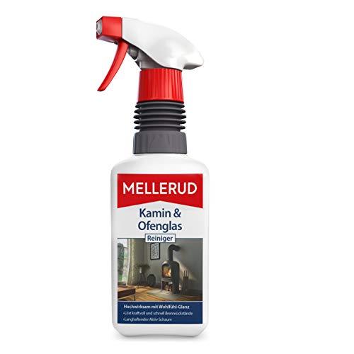 MELLERUD Kamin & Ofenglas Reiniger – Reinigungsmittel zum Entfernen von hartnäckigen Verschmutzungen auf Kamin- und Ofenglasscheiben – 1 x 0,5 l