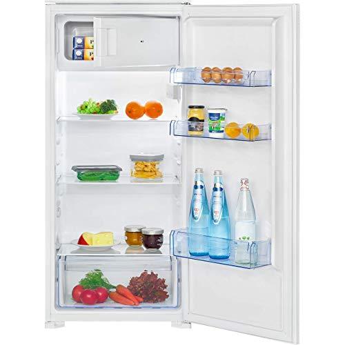 Bomann KSE 7807 Einbau-Kühlschrank, 181 Liter Nutzinhalt, 14 Liter Gefrierfach, LED Innenraumbeleuchtung, Schnellkühlfunktion, Temperaturbereich: 0°C ~...