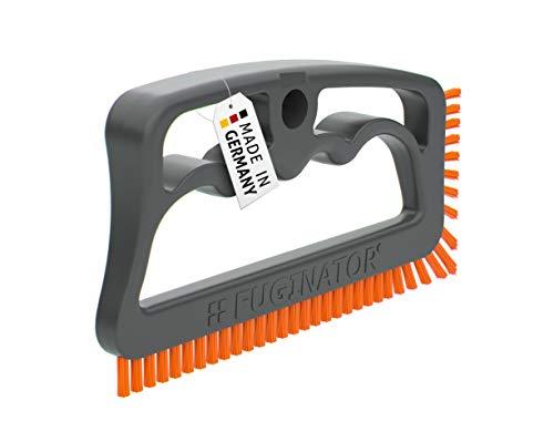 Fuginator® Fugenbürste grau/orange, Innovation aus 100% Recyklat – Fugenreinigung im Haushalt, patentiert und mit Blauen Engel zertifiziert