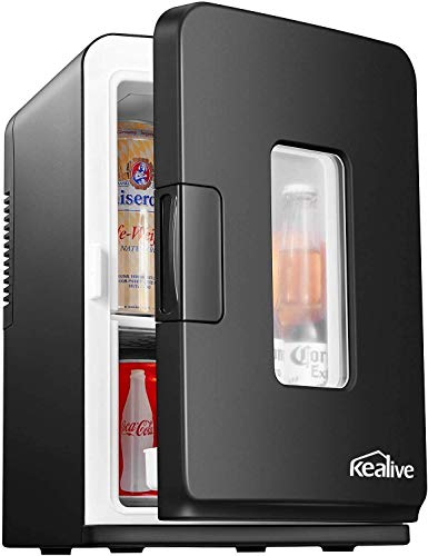 Mini Kühlschrank 15 Liter Tragbare Kühlschränke mit Kühl- und Heizfunktion, 220 V AC/ 12 V DC für Auto und Haushalt, Thermoelektrischer Mini-Kühlschränke...