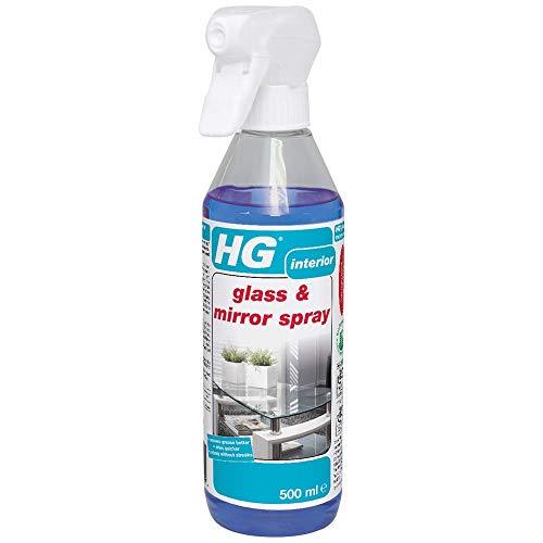HG Glas & Spiegel Spray 500 ml - ist ein streifenfreier Glasreiniger zur schnellen und einfachen Entfernung von Fett und Schmutz
