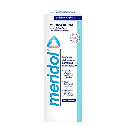meridol Mundspülung, 400 ml - antibakterieller Effekt, für gesunde Zähne & Zahnfleisch, ohne Alkohol