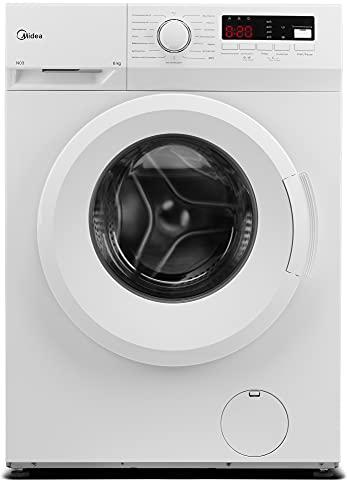 Midea Waschmaschine MFNEW60-105 / 6KG Fassungsvermögen/Energieeffizienzklasse E / 1000 U/min/Trommelreinigung- Erinnerung/Startzeitvorwahl, Weiß