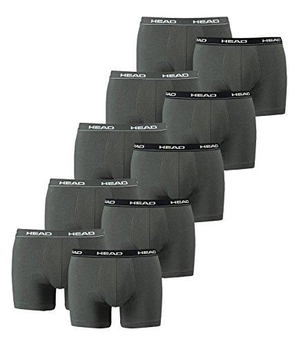 Head Herren Unterwäsche, Boxershorts (10er Pack) in verschiedenen Farben. L Grey/Black/White