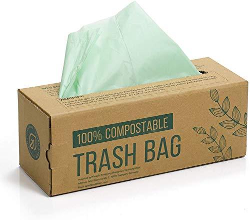 150 Beutel für Kompostbehälter 6L 8L 10L Küchen Lebensmittel Abfallbeutel 100% biologischer und abbaubarer Beutel aus Maisstärke mit EN13432 Zertifizierung...
