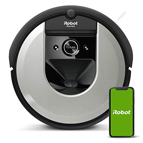 iRobot Roomba i7 (i7156) Saugroboter, 3-stufiges Reinigungssystem, intelligente Raumerfassung, Zeitplanreinigung, 2 Multibodenbürsten, WLAN App Staubsauger...