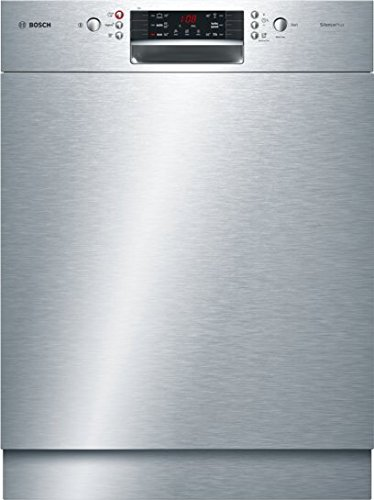 Bosch SMU46GS01E Serie 4 Unterbau-Geschirrspüler / A++ / 60 cm / Edelstahl / 258 kWh/Jahr / 12 MGD / SilencePlus / Extra Trocknen / VarioBesteckkorb