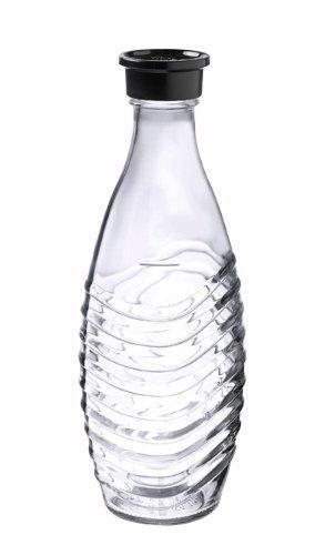 SodaStream 0,615L Glaskaraffe spülmaschinenfest mit fest schließendem Deckel für Wassersprudler wie Crystal oder Penguin!