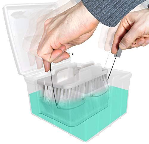 BRILLOX Brillenreinigungsgerät mit weichen Bürsten. Brillenreinigung mit Komfort. Brillenputzgerät Brillenreiniger Ultraschall Reiniger Reinigungsgerät...