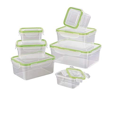 GOURMETmaxx Frischhaltedosen klick-it 7er Set | Spülmaschinen- Mikrowellen- und Gefrierschrankgeeignet | Deckel BPA-frei mit 4-Fach-klick-Verschluss |...