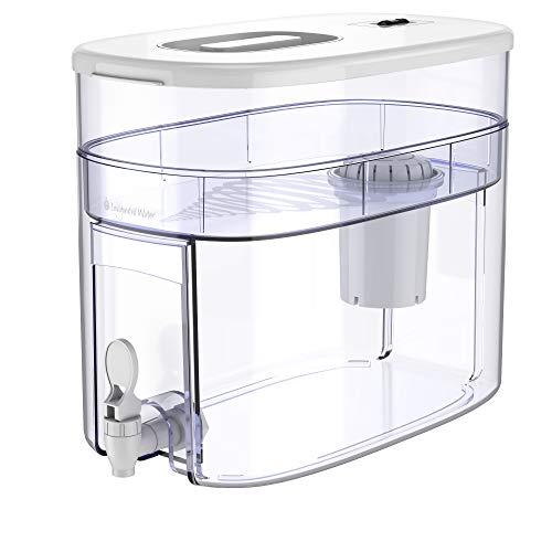 pH RECHARGE 1F - Wasserspender mit Filter für natürlich gereinigtes, basisches, ionisiertes Trinkwasser - reduziert Kalk & erhöht pH-Wert - mit Zapfhahn -...