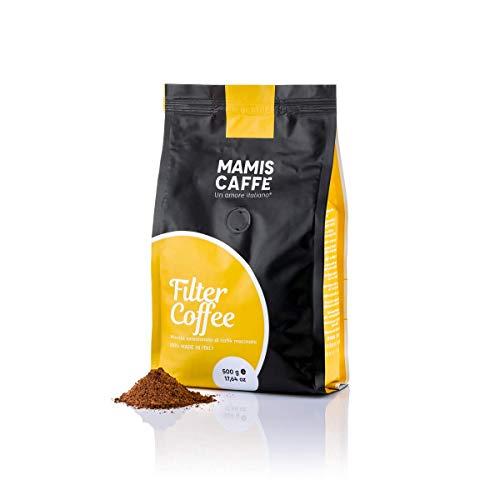 Mamis Caffè Filter Coffee Bohnen gemahlen für Filterkaffee 500 gr