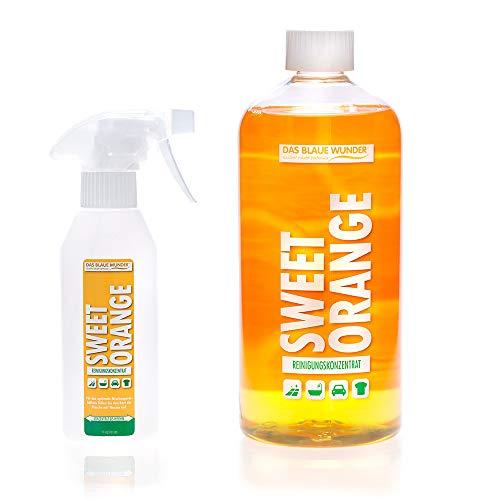 Das Blaue Wunder Orangenreiniger Sweet Orange Konzentrat | Universalreiniger | Fettlöser | Fleckenentferner | löst Kleber (1000 ml)