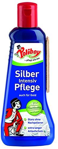 Poliboy - Silber Intensiv Pflege - 200 ml - zur Reinigung und Pflege für echtes Silber, Versilbertes und Gold