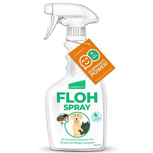 Silberkraft Flohmittel, Floh-Spray 500 ml - Flohspray für Hund, Katze und andere Haustiere - Umgebungsspray - ideales Anti-Floh-Mittel gegen Flöhe, Zecken,...