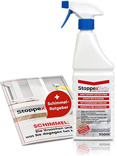 Stoppex® Aktiv-Professioneller Schimmelentferner gegen Schimmel für Wand, Bad und Silikonfugen I Chlorhaltiger Anti Schimmelspray gegen Stockflecken u....