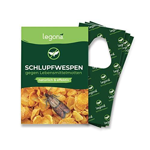 Legona® - Schlupfwespen gegen Lebensmittelmotten / 3X Trigram-Karte à 3 Lieferungen/Biologische & Nachhaltige Bekämpfung von Motten in...