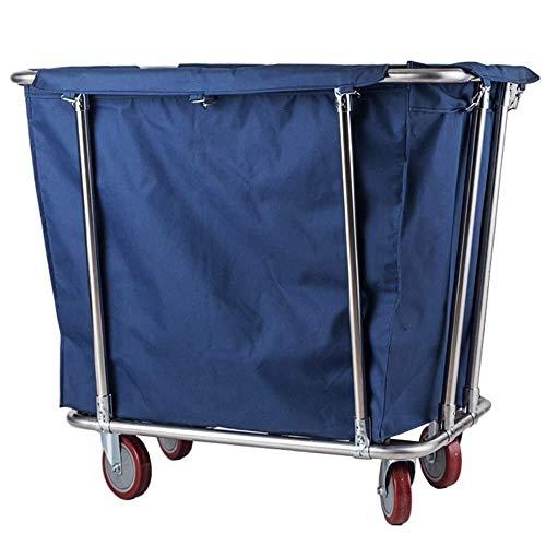 GJX Wäschesortierer Medizinische Wagen Haushaltsartikel aus Heavy-Duty-Rollwäschekorb Sorter Wagen, Roll Commercial Hotel Trolley Bin mit Abnehmbarer Tasche...