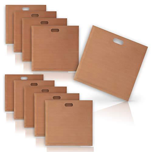 Amazy Dauerbackfolie (3er Set) – Das Premium Backpapier – Wiederverwendbar, hitzebeständig, antihaftbeschichtet und spülmaschinenfest (3X eckig je 36 x 42...