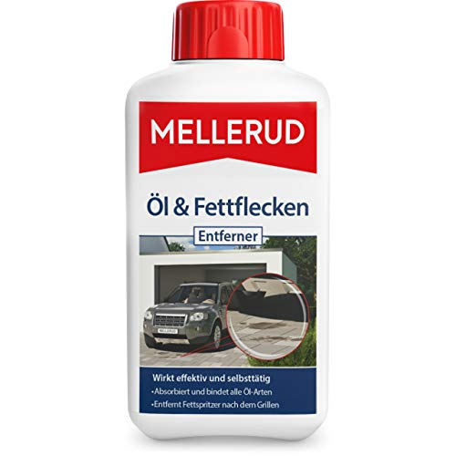 MELLERUD Öl & Fettflecken Entferner – Wirkungsvolles Mittel gegen hartnäckige Verschmutzungen auf allen Oberflächen im Innen- und Außenbereich – 1 x 0,5...