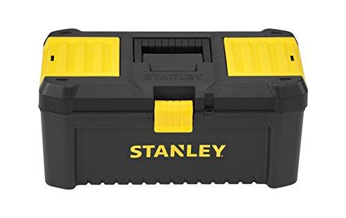 Stanley Werkzeugbox / Werkzeugkasten (16', 20x19,5x41cm, stabiler Werkzeugkoffer aus Kunststoff, Werkzeugkiste mit Kunststoffschließen ausgestattet, Organizer...