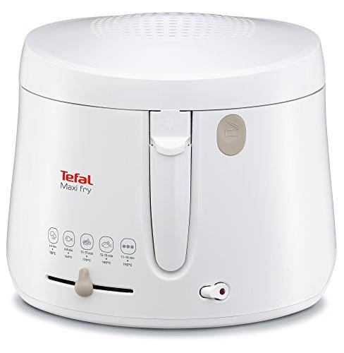Tefal FF1000 Maxi Fry Fritteuse (1.900 Watt, Kapazität 1,2 kg, Fritteuse mit Öl, wärmeisoliert, regelbare Temperatur, automatische Deckelöffnung, knusprige...